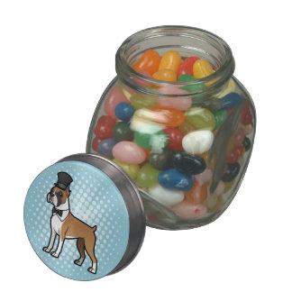 Cartoonize My Pet Glass Candy Jar