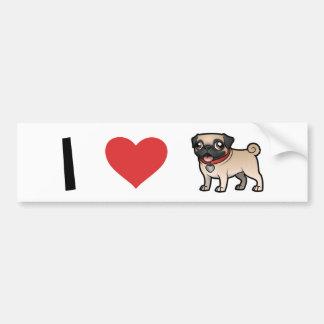 Cartoonize My Pet Car Bumper Sticker