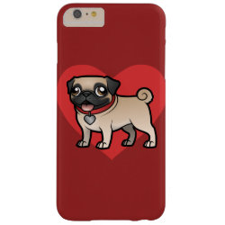 Case-Mate Barely There iPhone 6 Plus Case with Pug Phone Cases design