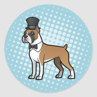 Cartoonize My Pet Classic Round Sticker