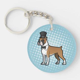 Cartoonize My Pet Double-Sided Round Acrylic Keychain