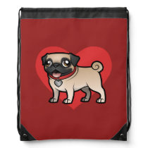 Cartoonize My Pet Drawstring Backpack