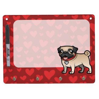 Cartoonize My Pet Dry Erase Board With Keychain Holder