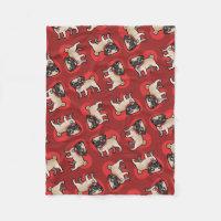 Cartoonize My Pet Fleece Blanket
