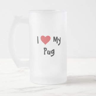 Cartoonize My Pet Frosted Glass Beer Mug