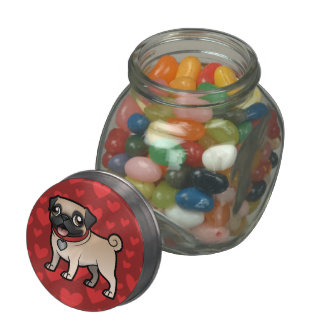 Cartoonize My Pet Glass Candy Jar