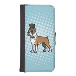 iPhone 5/5s Wallet Case with Boxer Phone Cases design