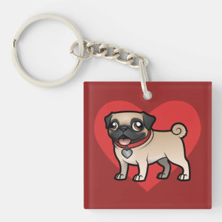 Cartoonize My Pet Keychain