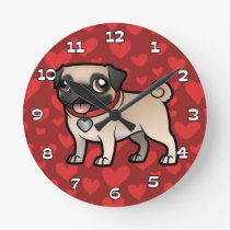 Cartoonize My Pet Round Clock
