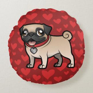 Cartoonize My Pet Round Pillow