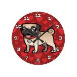 Cartoonize My Pet Round Wall Clock