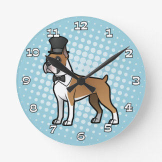 Cartoonize My Pet Round Wall Clocks