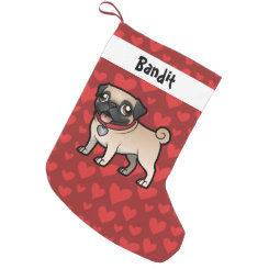 Cartoonize My Pet Small Christmas Stocking