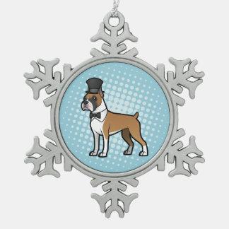 Cartoonize My Pet Snowflake Pewter Christmas Ornament