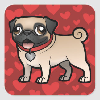 Cartoonize My Pet Square Sticker