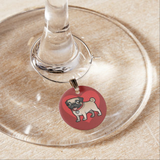 Cartoonize My Pet Wine Charm