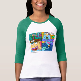 'Cartoonofmylife' ladies 3/4 sleeve sweather T-Shirt