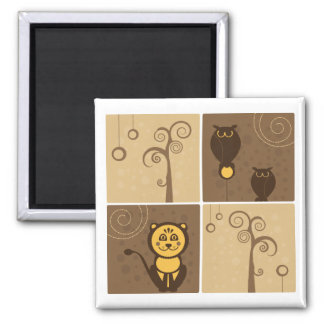 Cartoons Animals Design Magnet
