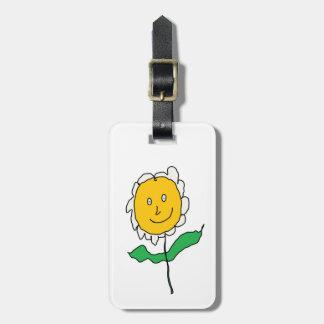 Cartoony Daisy Flower Bag Tag