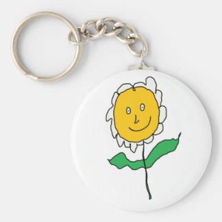 Cartoony Daisy Flower Keychain