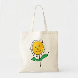 Cartoony Daisy Flower Tote Bag