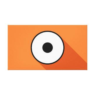 Cartoony Eye - Orange Canvas Print