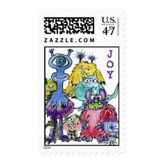 Cartooon Joy Monsters Postage