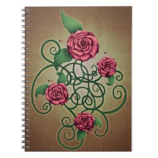 Cartouche color de rosa cuadernos