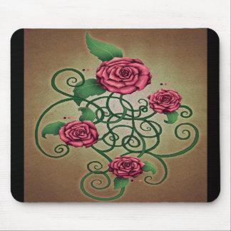 Cartouche color de rosa alfombrillas de ratón