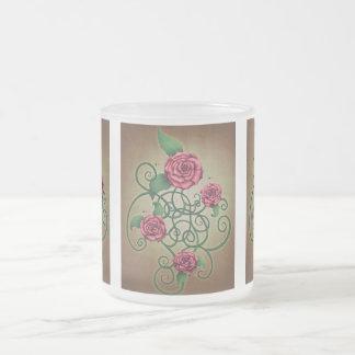 Cartouche color de rosa tazas