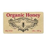 Cartouche orgánico de la abeja de la miel etiquetas de envío