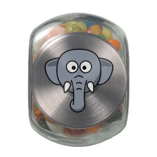 Cartppm Elephant Glass Jar