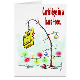 Cartridge in a Bare Tree Greeting Card