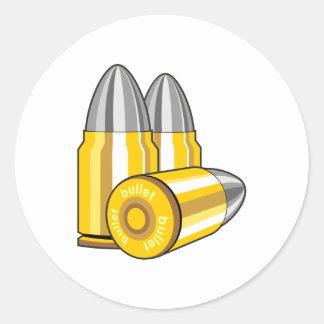 Cartridges bullets round sticker