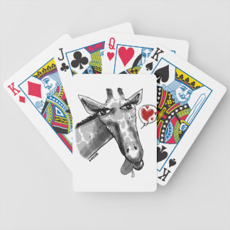 cartton style lovely giraffe bicycle playing cards