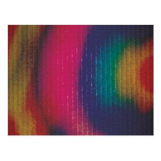 Cartulina coloreada extracto postal