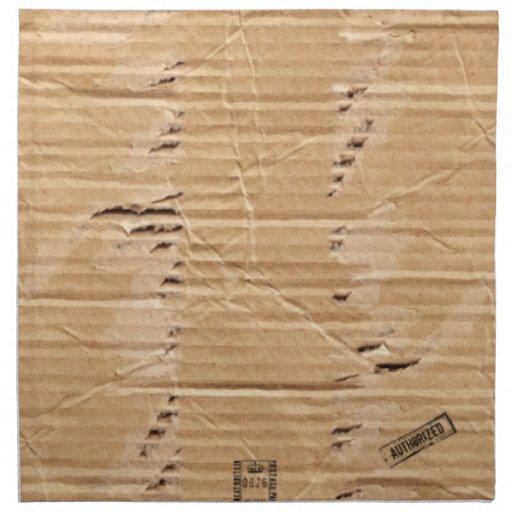 Cartulina dañada vieja de Brown con los sellos y l Servilletas Imprimidas