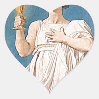 Cartulina para las ventanas de la capilla pegatina en forma de corazón