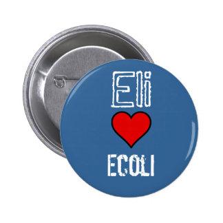 cartun hert, Eli, Ecoli Pinback Button