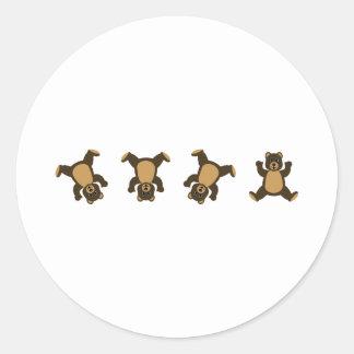 Cartwheel Bears Classic Round Sticker