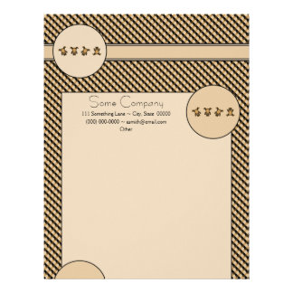 Cartwheel Bears Color Swatches Letterhead