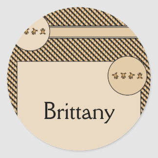 Cartwheel Bears Color Swatches Name Tag Classic Round Sticker