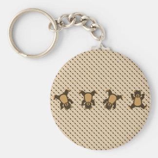 Cartwheel Bears Dots Keychain