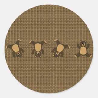 Cartwheel Bears Pattern Sticker