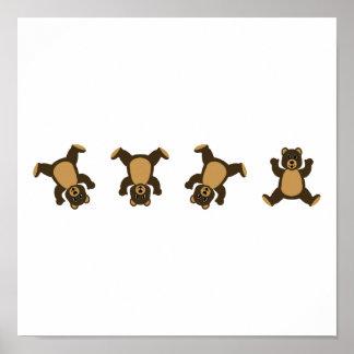 Cartwheel Bears Poster