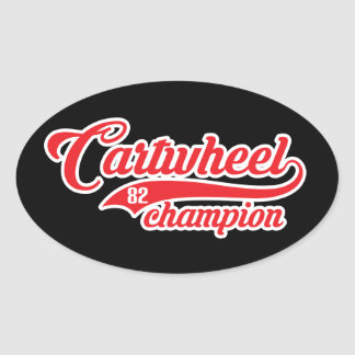 Cartwheel Champion Oval Sticker