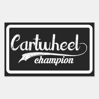 Cartwheel Champion Rectangular Sticker