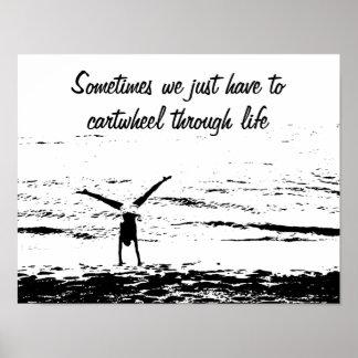 Cartwheel con el poster inspirado de la cita el | póster