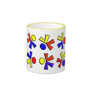 Cartwheel Figures Ringer Coffee Mug