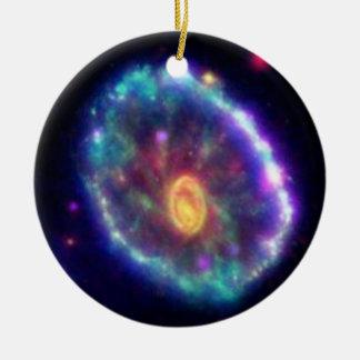 Cartwheel Galaxy Ceramic Ornament